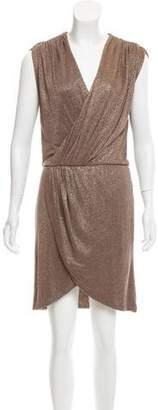 Halston Metallic Sleeveless Dress