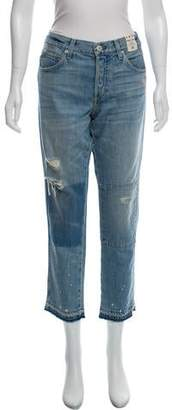 Amo Tomboy Crop Distressed Jeans w/ Tags