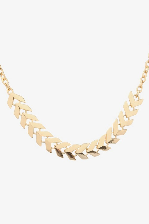 Gold Arrow Chain Necklace