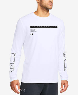 Under Armour Men's Charged Cotton Graphic Long-Sleeve T-Shirt