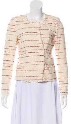 Etoile Isabel Marant Striped Collarless Jacket
