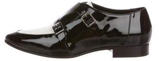 Jimmy Choo Monk Strap Pointed-Toe Oxfords