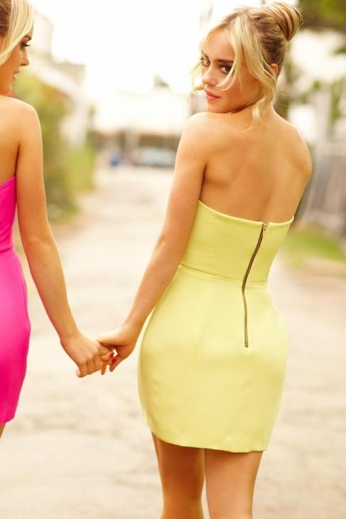 Mellow Yellow Naven Bombshell Dress in