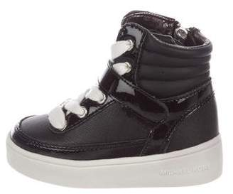 Michael Kors Boys' Leather High-Top Sneakers