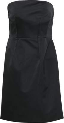 Theory Strapless Draped Satin Dress