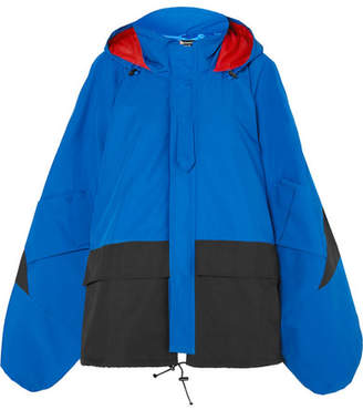 Junya Watanabe Oversized Color-block Shell Jacket - Cobalt blue