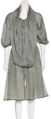 Fendi Silk Polka Dot Dress