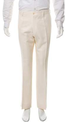 Ralph Lauren Purple Label Linen Silk Blend Flat Front Pants