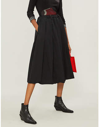 Comme des Garcons Drawstring-waist wool skirt