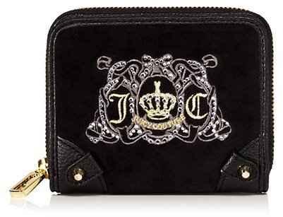 Juicy Couture Juicy Crest Velour Small French Purse
