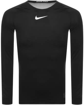 Nike Training Compression Logo T Shirt Black