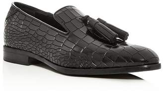 Jimmy Choo Men's Foxley Croc-Embossed Leather Smoking Slippers