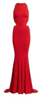 Alexandre Vauthier Stretch Jersey Halterneck Gown