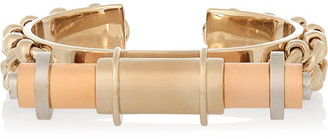 Givenchy - Obsedia Cuff In Gold, Rose-gold And Silver-tone $655 thestylecure.com