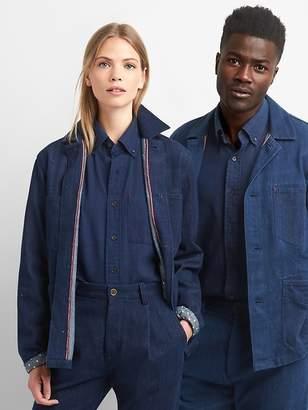 Gap Unisex Khadi denim star-lined standard fit shirt