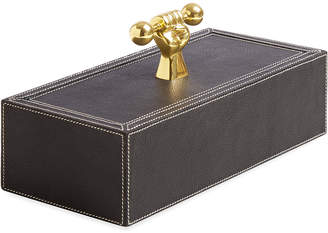 Jonathan Adler Barbell Leather Box