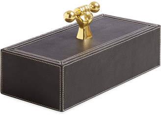 Jonathan Adler Barbell Leather Box