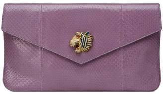 Gucci Rajah python clutch