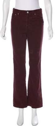 ALEXACHUNG for AG Corduroy Straight-Leg Pants