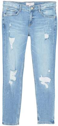 Mango Ripped Slim Jeans