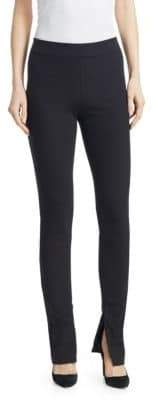 Theory High-Waist Cotton-Blend Leggings
