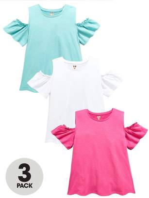 Very 3 PK Cold Shoulder Tops - Multi
