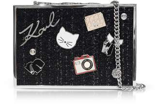 Karl Lagerfeld K/Pins Tweed Clutch