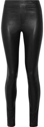 Helmut Lang Stretch-leather Leggings - Black