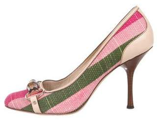 Gucci Embellished Woven Pumps