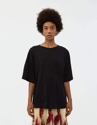 Dries Van Noten Hegel Embroidered Tee in Black