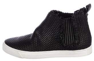Loeffler Randall Woven High-Top Sneakers