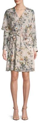ABS by Allen Schwartz COLLECTION Pastel Floral Long-Sleeve Dress