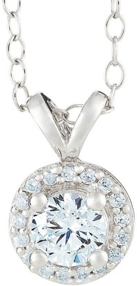 Affinity Diamond Jewelry Halo Pendant, 14K White Gold, 1/4 cttw, by Affinity