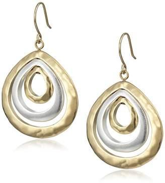 Kenneth Cole New York Two-Tone Teardrop Orbital Earrings