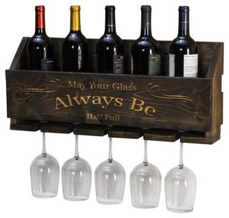 """Le Luxe Engraved """"Always Be"""" Wine Rack by Del Hutson Designs"""