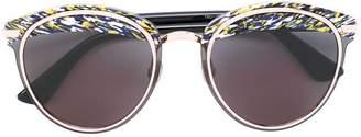 Christian Dior printed brim sunglasses