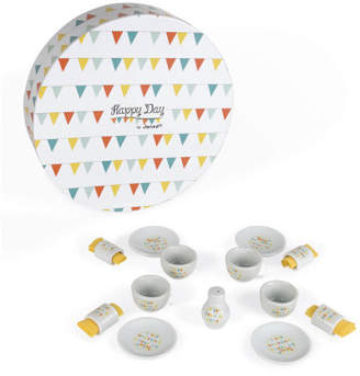 Janod Sale - Happy Day Doll's Tea Set - Set of 17 Accessories