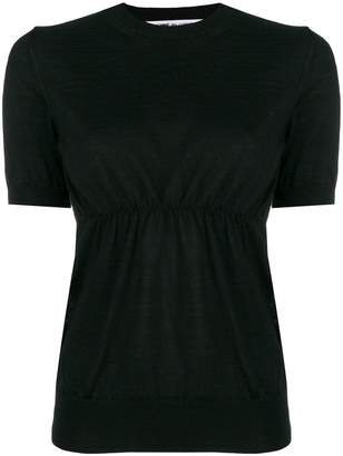 Comme des Garcons short sleeve knitted top