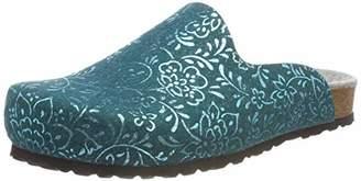 Lico Women's Bioline Clog Flower Blue Petrol