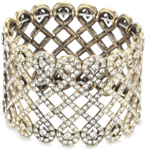 """RJ Graziano Dirty Diamonds"""" Swirl Stretch Bracelet With Stone"""