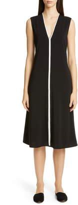 St. John V-Neck Matte Jersey Dress