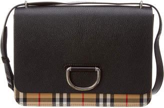 Burberry Medium D-Ring Vintage Check & Leather Shoulder Bag