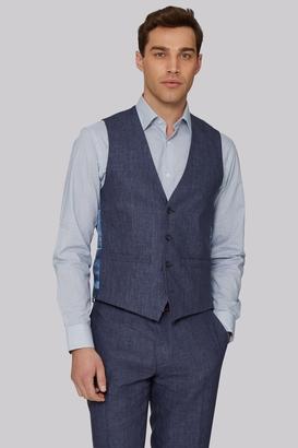 Indigo Linen Waistcoat