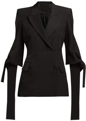 Petar Petrov Joy Single Breasted Slit Cuff Jacket - Womens - Black