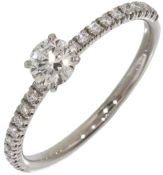 Cartier PT950 Platinum 0.25ct Diamonds Ring Size 4.75