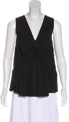 RED Valentino Bow-Accented Sleeveless Top