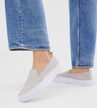 Dexter Asos Design ASOS DESIGN slip on plimsolls in gray