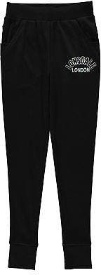 Lonsdale London Kids Girls Closed Hem Jogging Bottoms Jersey Trousers Pants Drawstring