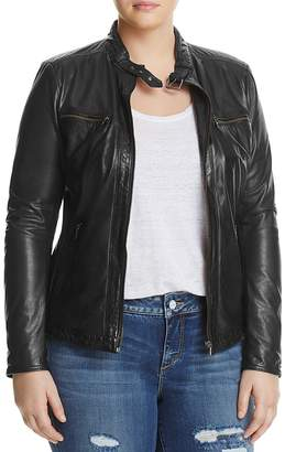 SLINK Jeans Leather Moto Jacket $300 thestylecure.com