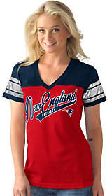 NFL Womens Mesh V-Neck Short Sleeve Teewith Foil